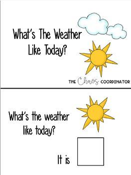 Weather Bundle- Adapted Book and Activities