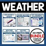 Weather Lesson Bundle - presentations, notes, activities,