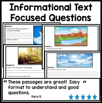 Bundle Weather Science Reading Comprehension Passages {Digital and Print and Go}