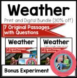Bundle Weather Science Reading Comprehension Passages {Dig