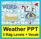 Weather Bundle:  Journal, Readers with 3 Levels, Word Wall & PowerPoint