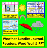 Weather Bundle: Journal, Readers 3 Levels, Illustrated Word Wall & PowerPoint