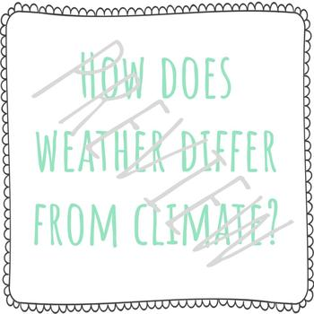 Weather and Climate | Science Posters | Vocabulary Game | Objectives