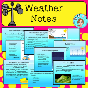 Weather Bundle – Upper Elementary – No Prep, Print, & Go