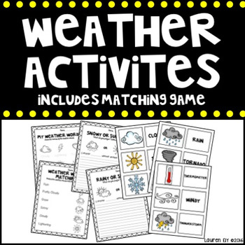 Weather Activities {Includes Matching Game}