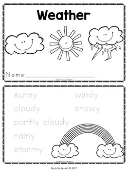 Weather Bundle: Worksheets, Posters, Concept Book
