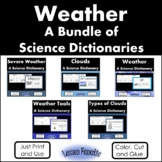 Weather Bundle of Color, Cut and Glue Science Dictionaries