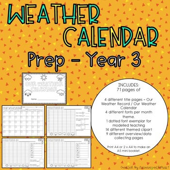 Weather Calendar Booklet