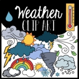 Weather Calendar Clipart: Moveable Images for Paperless Resources