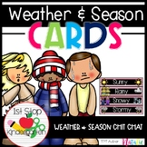 Weather & Season Cards (Bright/Rainbow Style)