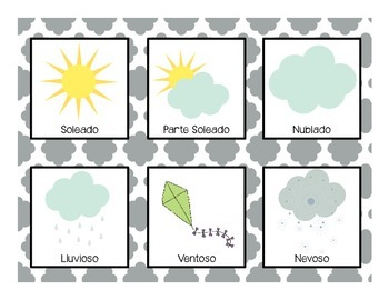 Weather Cards- in Spanish!