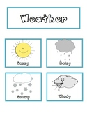 Weather Cards - Sunny - Snowy - Rainy - Windy
