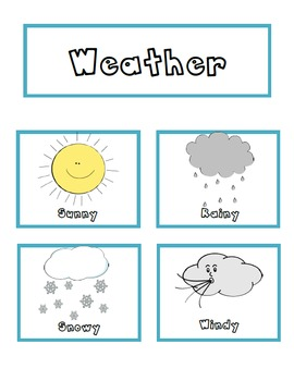 Weather Cards Sunny Snowy Rainy Windy By Emily