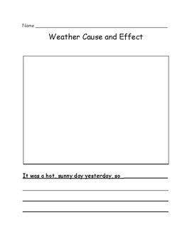 Weather Cause and Effect