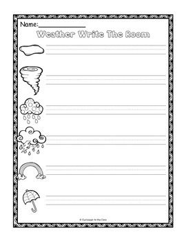 Weather Center ~ Write The Room