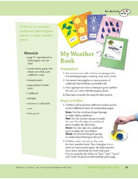 Weather Changes Day to Day: Art and Cooking Activities