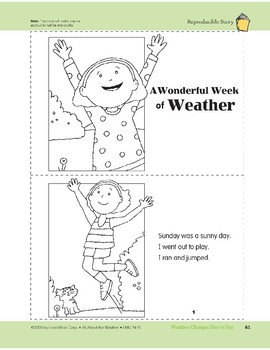 Weather Changes Day to Day: Take-Home Book