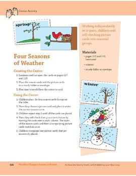Weather Changes Season to Season: Center Activity