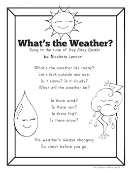Weather Chart, Song, and Graph