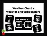 Weather Chart - Black and White