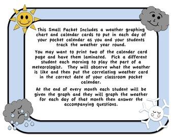 Weather Chart & Calendar Cards