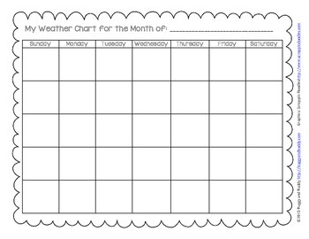 Weather Chart Packet with Graphs and Writing