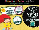 "Weather Chart- Shabby Chic ""Rustic Rainbow"" Burlap classroom decor"