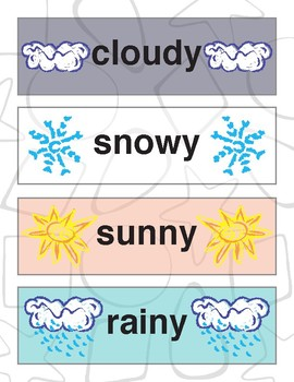 Weather Chart: Zini and Friends
