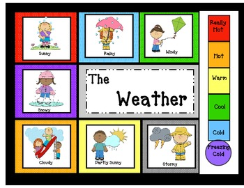 Weather Chart  with graphs for Calendar/ Circle Time