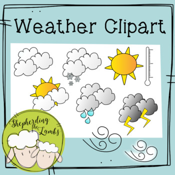 Weather Charting Clip Art: Commercial Use