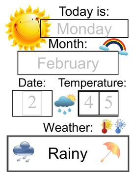 Weather Charts and Graphing Worksheets