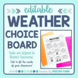 Weather Choice Board - Editable