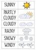 Weather Classroom Calendar Pre-K and Kindergarten