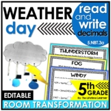 5th Grade Weather Classroom Transformation | Read and Writ