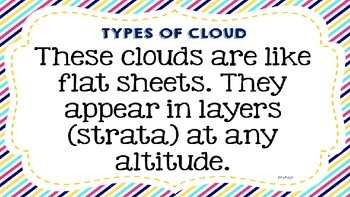Weather & Climate Lesson: CLOUDS