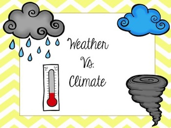Weather & Climate (Powerpoint, Foldable, Map, Sort)