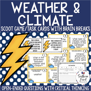 Weather & Climate Scoot Game/Task Cards