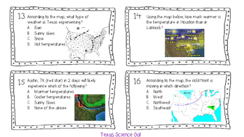 Weather & Climate Task Cards
