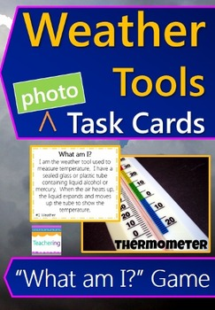Weather & Weather Tools Task Cards with PHOTOS