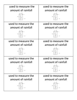 Weather, Climate, Weather Instruments, & Water Cycle Flashcards