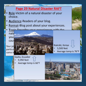 Weather, Climate, and Natural Disasters