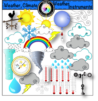 Weather Climate and Weather Instruments Clip Art