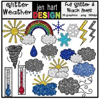Weather Clip Art {Glitter}