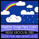 Weather Clip Art - 19 Color Images - 4k x 4k 300 DPI