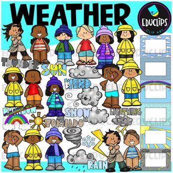 Weather Clip Art Bundle {Educlips Clipart}
