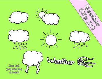 Weather Clip Art Line Art