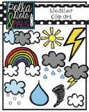 Weather Clip Art (Polka Dots and Pals)
