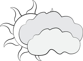 Weather Clip Art Rainbow, Clouds, Tornado and Hurricane, Rain and Snow