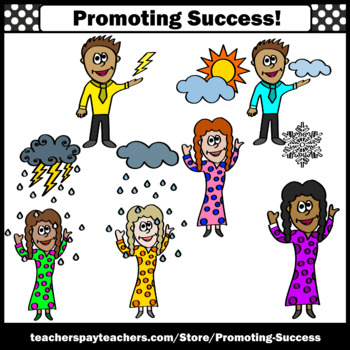 Science Weather Clipart for Calendar Activities Weatherman Woman SPS