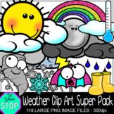 Weather Clip Art Super Pack 100+ Images {The Teacher Stop}